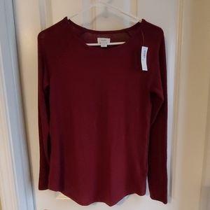 Wine color sweater